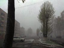1 Μαΐου στη Σιβηρία στοκ φωτογραφία