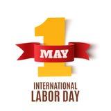 1 Μαΐου υπόβαθρο Εργατικής Ημέρας στο λευκό Στοκ φωτογραφία με δικαίωμα ελεύθερης χρήσης