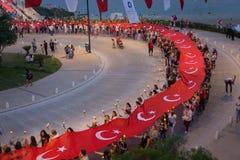 19 Μαΐου 2018  Antalya, Τουρκία - παρέλαση Στοκ Εικόνα