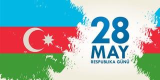 28 Μαΐου gunu Respublika Μετάφραση από τα αζερμπαϊτζανικά: Στις 28 Μαΐου Ρ Στοκ Εικόνες