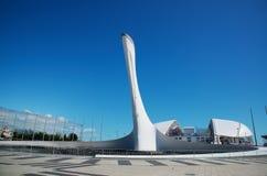 21 Μαΐου 2017, Sochi, Ρωσία Φανός της ολυμπιακής φλόγας στο Ο στοκ φωτογραφίες