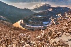 Μαίανδρος Domasinsky το χειμώνα στοκ εικόνες
