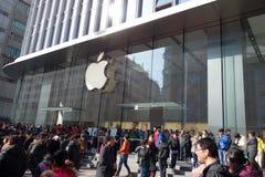 Μαγαζί λιανικής πώλησης της Apple στη Σαγγάη Στοκ Εικόνες
