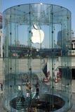 Μαγαζί λιανικής πώλησης της Apple στη Σαγκάη pudong Στοκ φωτογραφία με δικαίωμα ελεύθερης χρήσης