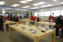 Μαγαζί λιανικής πώλησης της Apple στο chengdu Στοκ Φωτογραφία