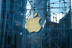 Μαγαζί λιανικής πώλησης της Apple στο lujiazui της Σαγκάη Στοκ εικόνες με δικαίωμα ελεύθερης χρήσης