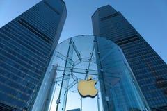 Μαγαζί λιανικής πώλησης της Apple στο lujiazui της Σαγκάη Στοκ Εικόνες
