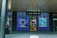 Μαγαζί λιανικής πώλησης σύνθεσης Lancome σε Chengdu στοκ εικόνες