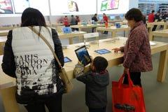 Μαγαζί λιανικής πώλησης της Apple σε Chengdu Στοκ Εικόνα