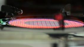 Μαγείρεμα έναρξης με τη φλόγα απόθεμα βίντεο