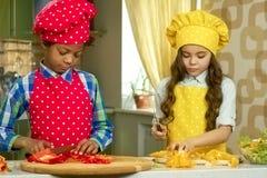 Μαγείρεμα αγοριών και κοριτσιών Στοκ φωτογραφία με δικαίωμα ελεύθερης χρήσης