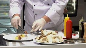 Μαγείρεμα αρχιμαγείρων απόθεμα βίντεο