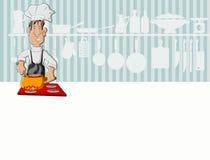 Μαγείρεμα ατόμων αρχιμαγείρων Στοκ Φωτογραφία