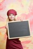 Μαγείρεμα και κατανάλωση, παιδική ηλικία και ευτυχία, ομορφιά και μόδα, μάγειρας Στοκ φωτογραφίες με δικαίωμα ελεύθερης χρήσης