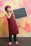 Μαγείρεμα και κατανάλωση, παιδική ηλικία και ευτυχία, ομορφιά και μόδα, μάγειρας Στοκ Εικόνες