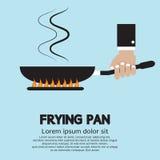Μαγείρεμα με το τηγάνισμα του τηγανιού Στοκ εικόνα με δικαίωμα ελεύθερης χρήσης