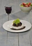 Μαγείρεμα σε κατσαρόλα τροφίμων με το ρύζι Στοκ Εικόνα
