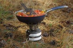 Μαγείρεμα στρατόπεδων στοκ φωτογραφίες με δικαίωμα ελεύθερης χρήσης