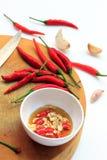 Μαγείρεμα της σάλτσας σκόρδου, τσίλι και ψαριών σε Ταϊλανδό στοκ εικόνες με δικαίωμα ελεύθερης χρήσης