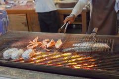Μαγείρεμα bar-b-q των θαλασσινών Στοκ φωτογραφία με δικαίωμα ελεύθερης χρήσης