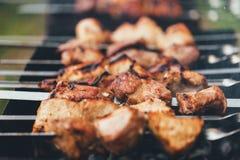 Μαγείρεμα Kebab στοκ φωτογραφίες με δικαίωμα ελεύθερης χρήσης