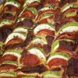 Μαγείρεμα Ratatouille των λαχανικών Η μεσογειακή κουζίνα Στοκ Εικόνα