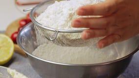 Μαγείρεμα Spagetti Carbonara απόθεμα βίντεο