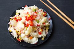 Μαγειρευμένα ζυμαρικά με τα λαχανικά Στοκ φωτογραφίες με δικαίωμα ελεύθερης χρήσης