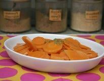 Μαγειρευμένα καρότα Στοκ Φωτογραφίες
