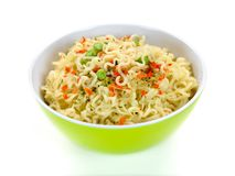 μαγειρευμένα στιγμιαία noodle Στοκ εικόνα με δικαίωμα ελεύθερης χρήσης