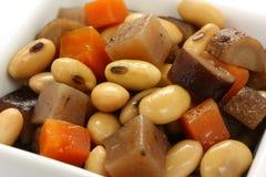 μαγειρευμένα φασόλια λαχανικά σόγιας Στοκ φωτογραφία με δικαίωμα ελεύθερης χρήσης