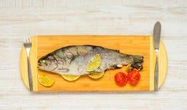 Μαγειρευμένα ψάρια πεστροφών Στοκ Εικόνες