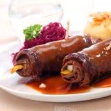 Μαγειρευμένα roulades ή Στοκ φωτογραφία με δικαίωμα ελεύθερης χρήσης
