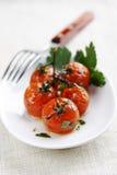 Μαγειρευμένες ντομάτες στην άμπελο στοκ φωτογραφία με δικαίωμα ελεύθερης χρήσης