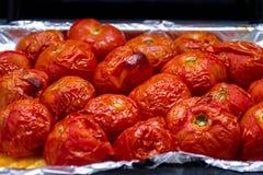Μαγειρευμένες ντομάτες στο φούρνο στοκ εικόνες