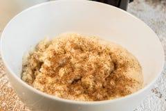 Μαγειρευμένες οργανικές βρώμες με την κανέλα για το πρόγευμα Στοκ Εικόνα