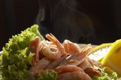 μαγειρευμένη πρόσφατα γαρίδα Στοκ εικόνα με δικαίωμα ελεύθερης χρήσης