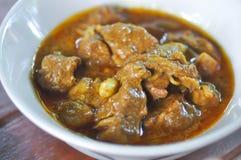 Μαγειρευμένος ή το χοιρινό κρέας, το χοιρινό κρέας μαγειρευμένος ή το κάρρυ χοιρινού κρέατος στοκ εικόνα