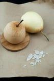 Μαγειρευμένο αχλάδι με τη ζάχαρη Στοκ φωτογραφία με δικαίωμα ελεύθερης χρήσης