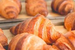 Μαγειρευμένο βούτυρο croissant Στοκ Εικόνες