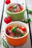 Μαγειρευμένο βόειο κρέας με τα λαχανικά Στοκ Φωτογραφία