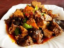 Μαγειρευμένο βόειο κρέας στοκ φωτογραφία
