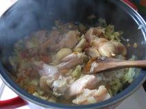 Μαγειρευμένο κοτόπουλο Στοκ Φωτογραφίες