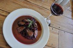 μαγειρευμένο κρέας καγ&kapp Στοκ εικόνες με δικαίωμα ελεύθερης χρήσης