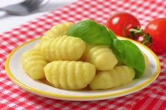 Μαγειρευμένο gnocchi Στοκ φωτογραφία με δικαίωμα ελεύθερης χρήσης
