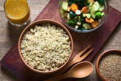 Μαγειρευμένο Quinoa με τα λαχανικά Στοκ Εικόνα