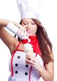 μαγειρεψτε προκλητικό Στοκ εικόνα με δικαίωμα ελεύθερης χρήσης