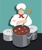 Μαγειρεύοντας αρχιμάγειρας Στοκ φωτογραφία με δικαίωμα ελεύθερης χρήσης