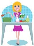 μαγειρεύοντας γυναίκα ελεύθερη απεικόνιση δικαιώματος