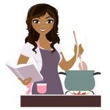 Μαγειρεύοντας γυναίκα διανυσματική απεικόνιση